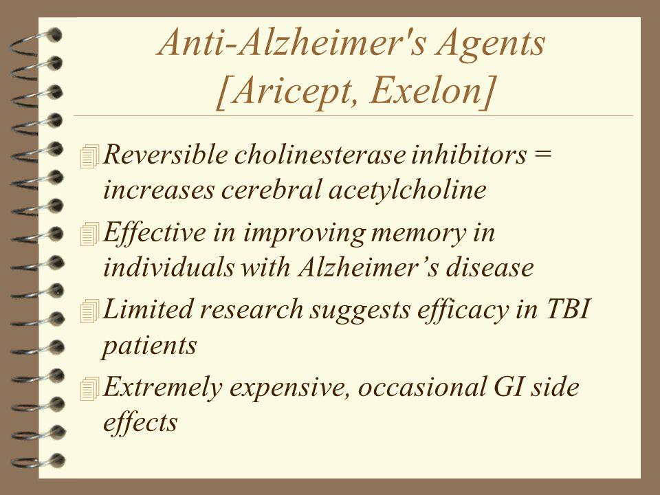 Anti-Alzheimer s Agents [Aricept, Exelon]